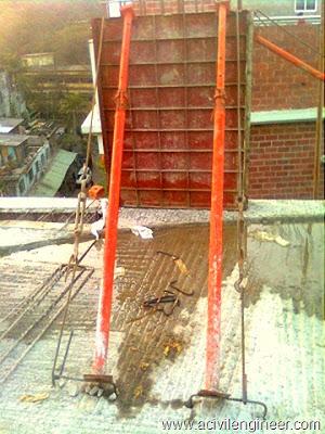 construction process of RC column