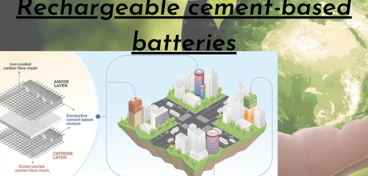 Rechargeable cement-based batteries